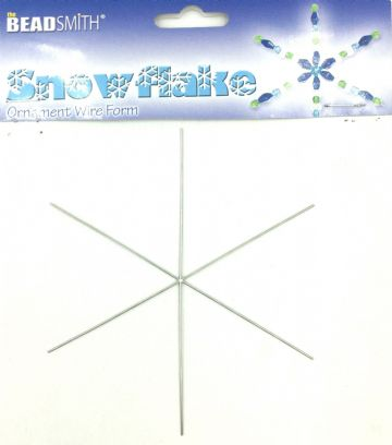 Beadsmith snowflake wire form 6 inches 6 pcs